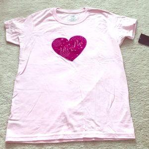 NWT New Balance Small I Wear Pink T-Shirt